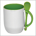 M 6699 - Ceramic Mug with Spoon / Coating